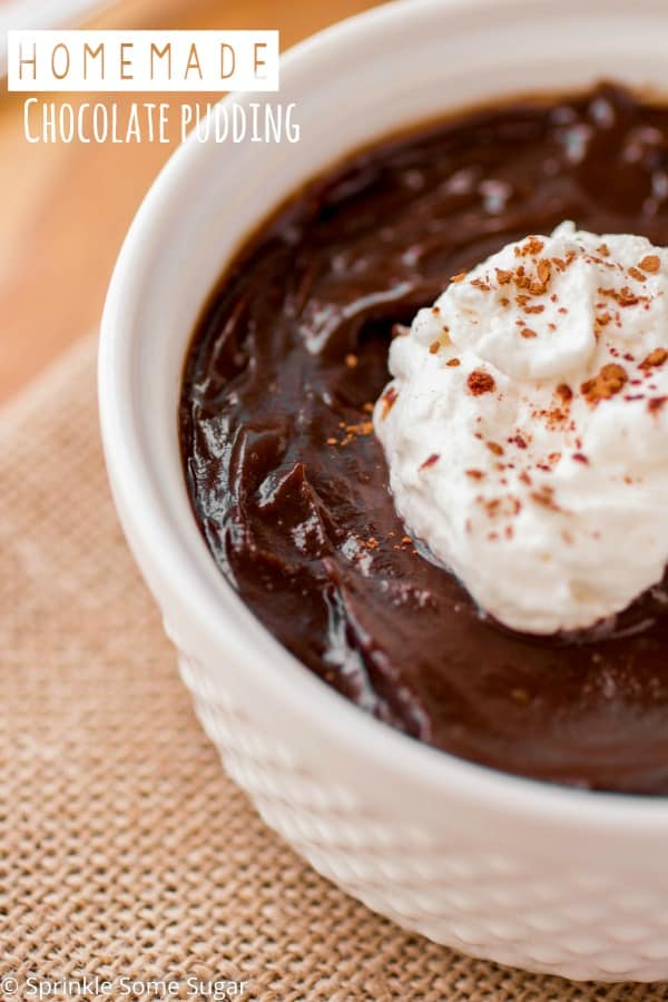 Homemade Chocolate Pudding - Sprinkle Some Sugar
