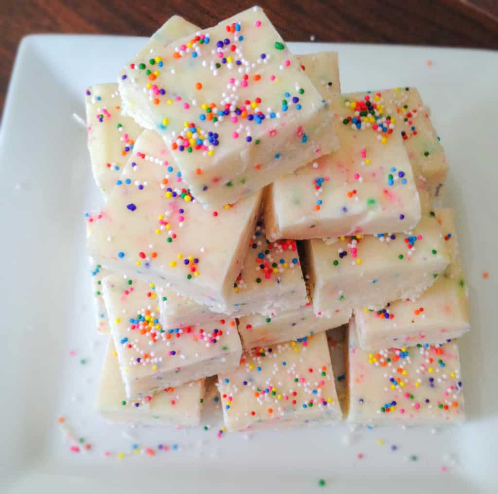 Cake Batter Fudge. The happiest fudge you ever did see! So easy to throw together, you can't go wrong!