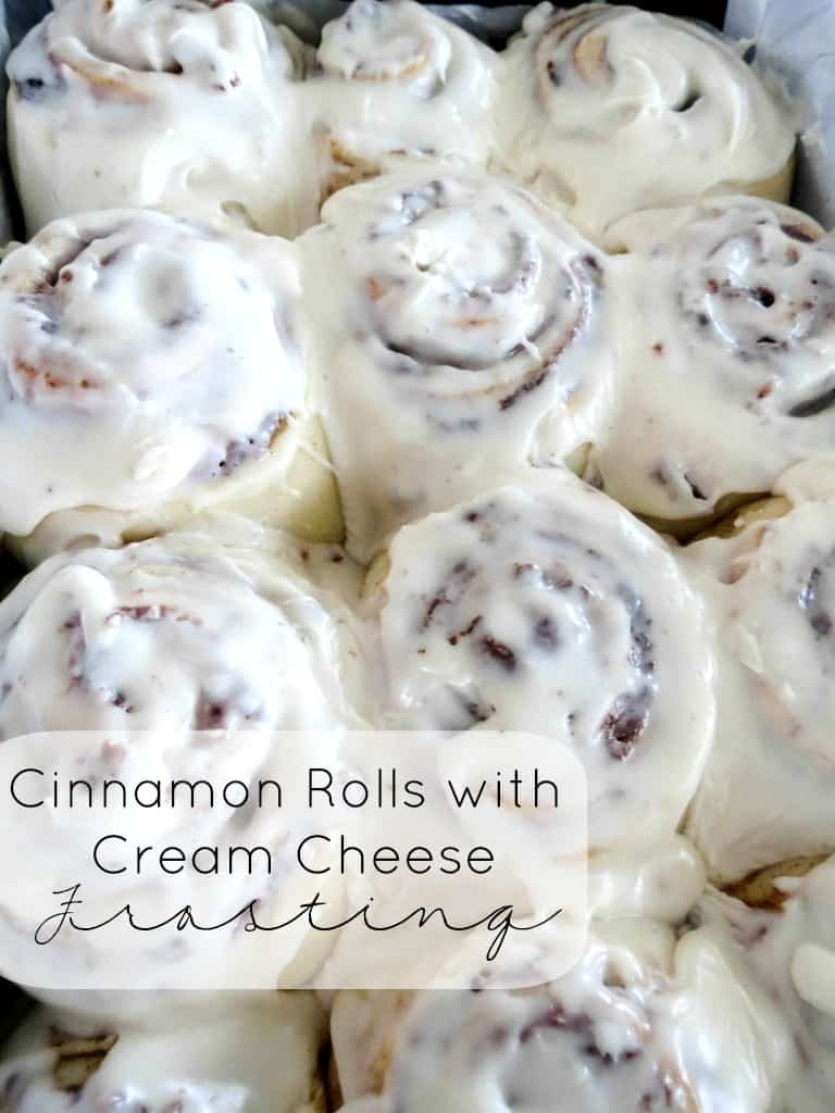 Cinnamon Rolls with Cream Cheese Frosting - Sprinkle Some Sugar