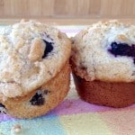 Blueberry and Strawberry Muffins With Streusel Topping