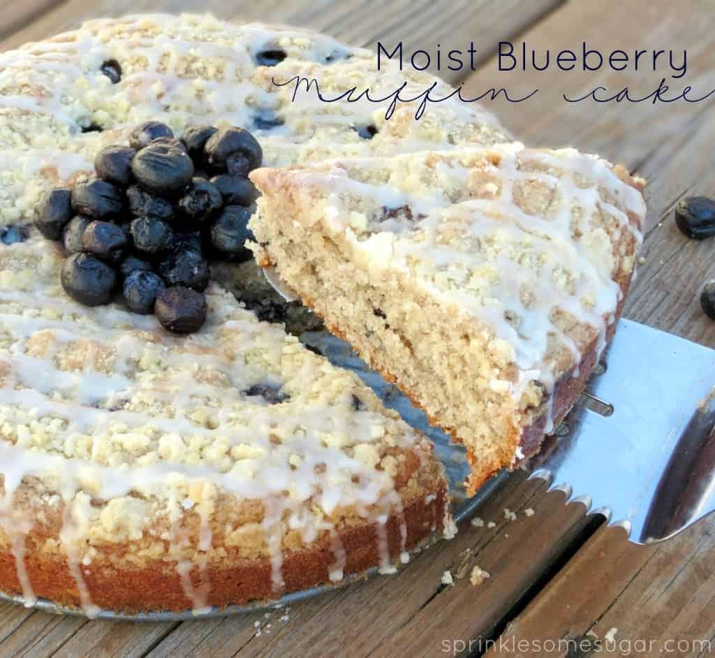 Moist Blueberry Muffin Cake - Sprinkle Some Sugar