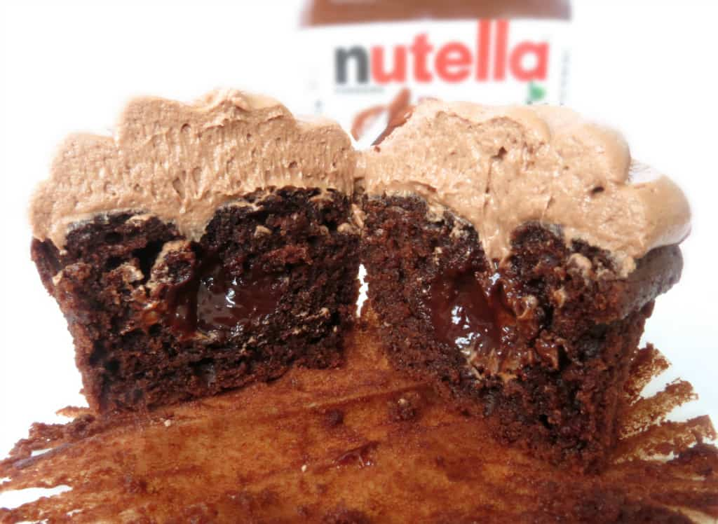 Sprinkle Some Sugar: Chocolate Cupcakes With Nutella Frosting