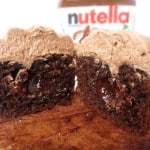 Chocolate Cupcakes With Nutella Buttercream
