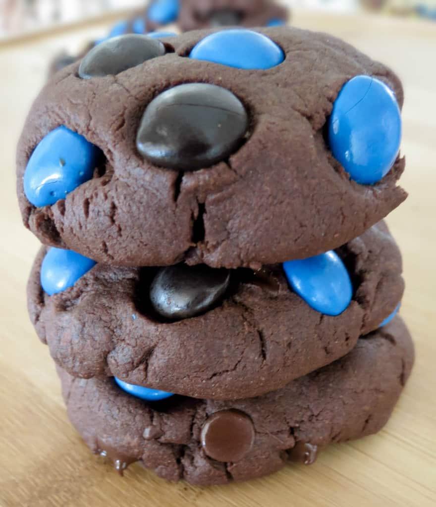 Thick, Chocolate Fudge Almond Joy Cookies