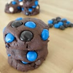 Thick, Chocolate Fudge Almond Joy Cookies