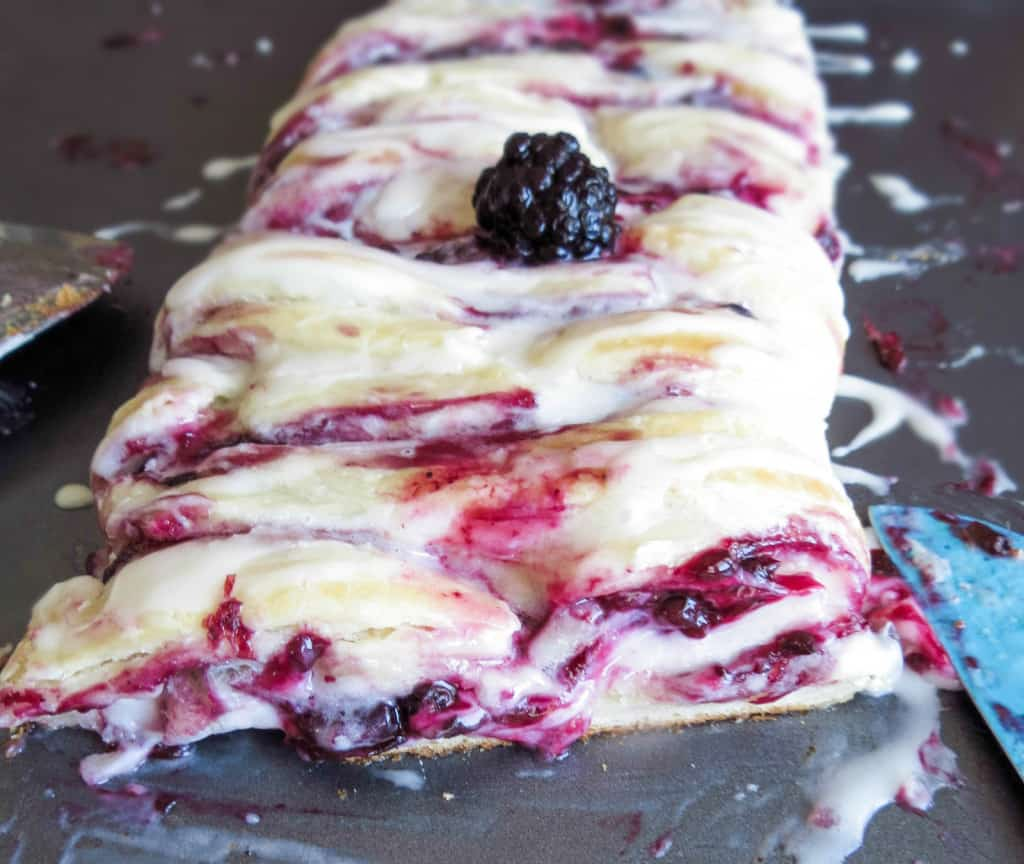Vanilla Glazed Blackberry Danish Braid
