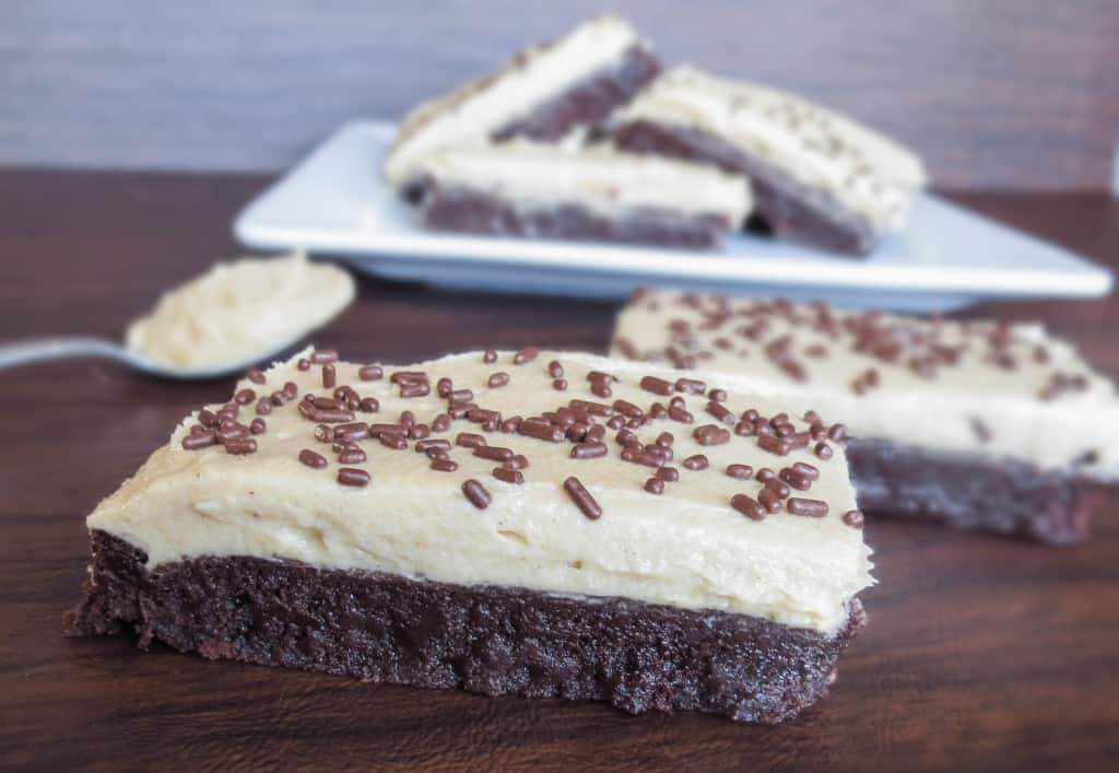 Peanut Butter Frosted Fudge Brownies