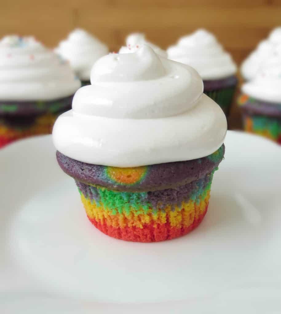 Rainbow Cloud Cupcakes