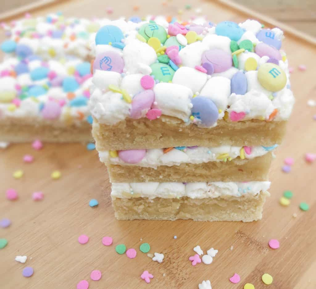 Marshmallow M&M Sugar Cookie Bars