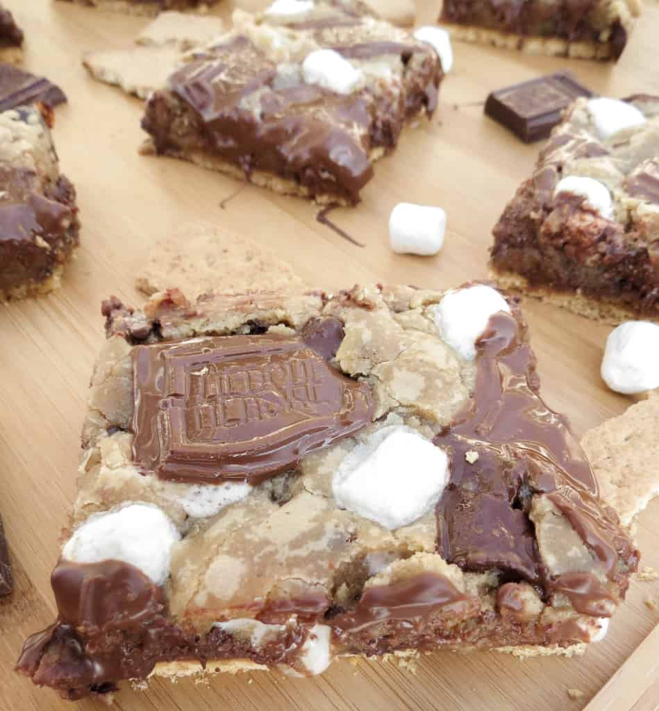 Gooey S'mores Chocolate Chip Cookie Bars