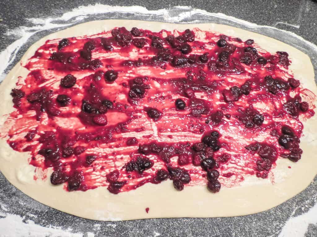 Mixed Berry Sweet Rolls With Vanilla Cream Cheese Glaze