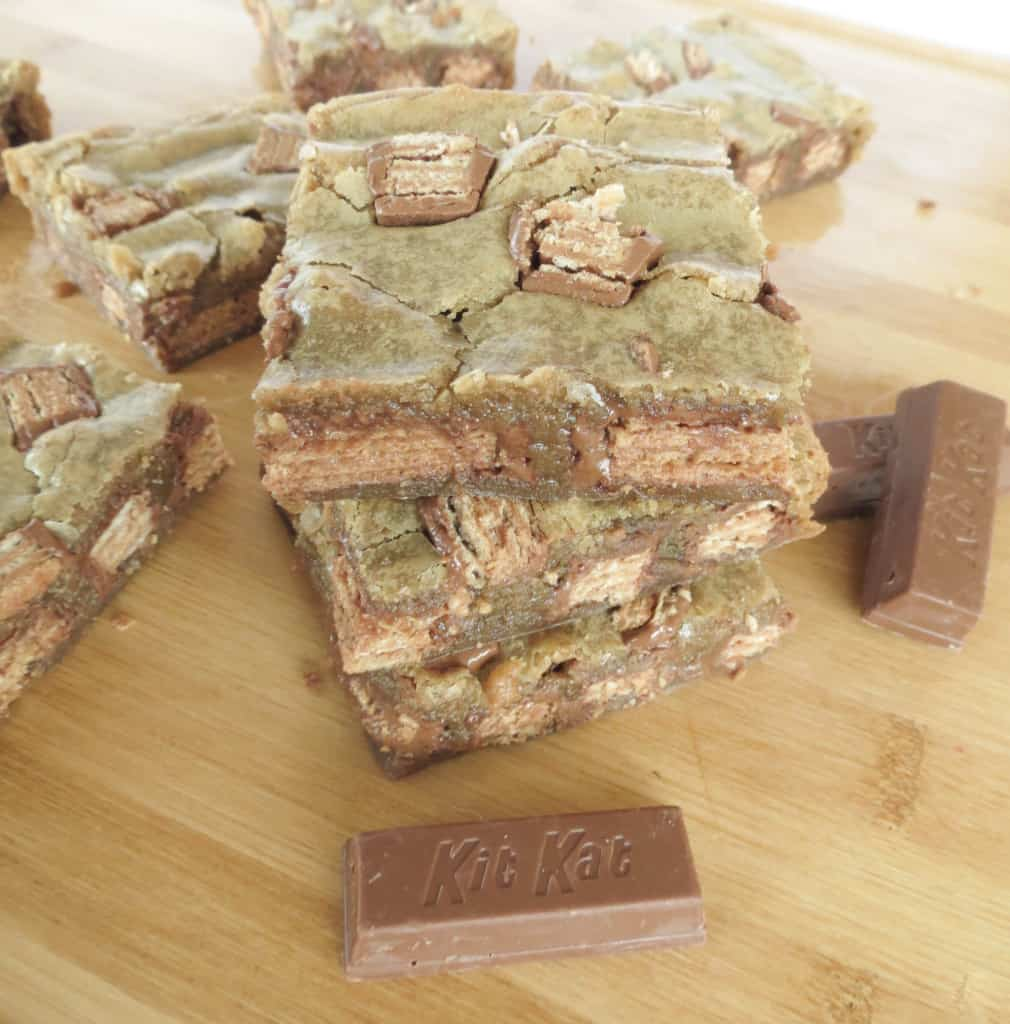 Gooey Kit Kat Blondies