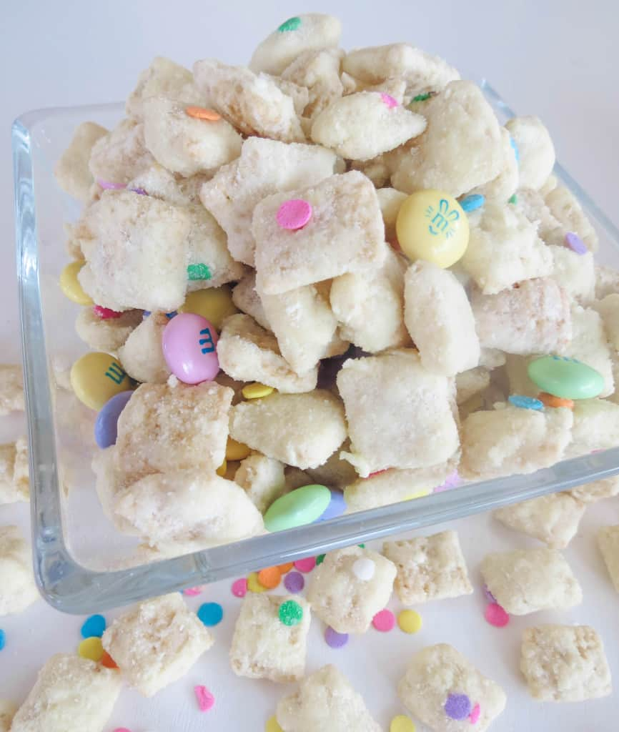 Cake Batter Easter Puppy Chow Sprinkle Some Sugar