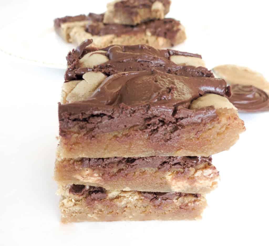 Peanut Butter Chocolate Swirl Bars