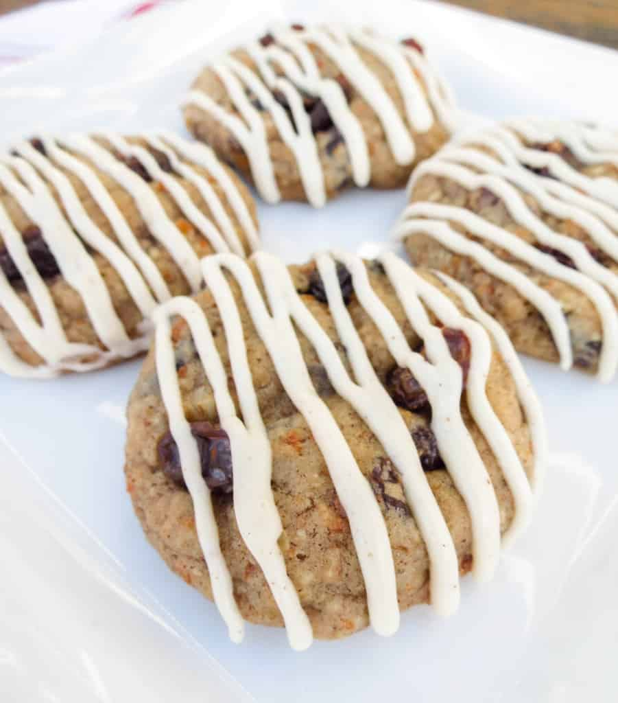 Soft-Baked Carrot Cake Cookies With Browned Butter Cream Cheese Glaze