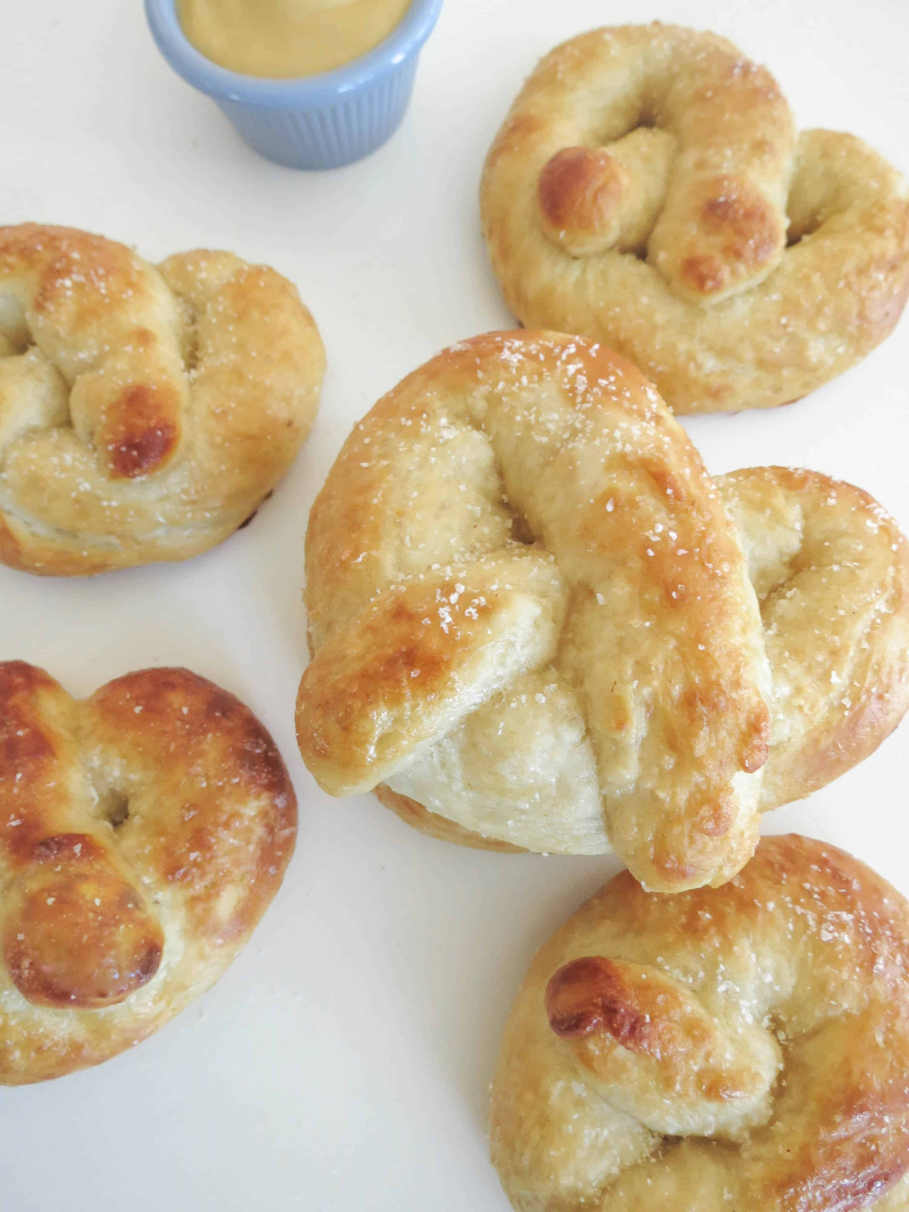 You get a soft and fluffy yet chewy, perfectly golden brown pretzel ...