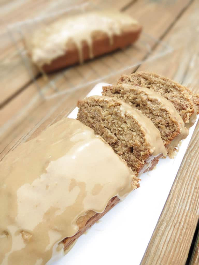 The Best Moist Banana Bread With Brown Sugar Glaze