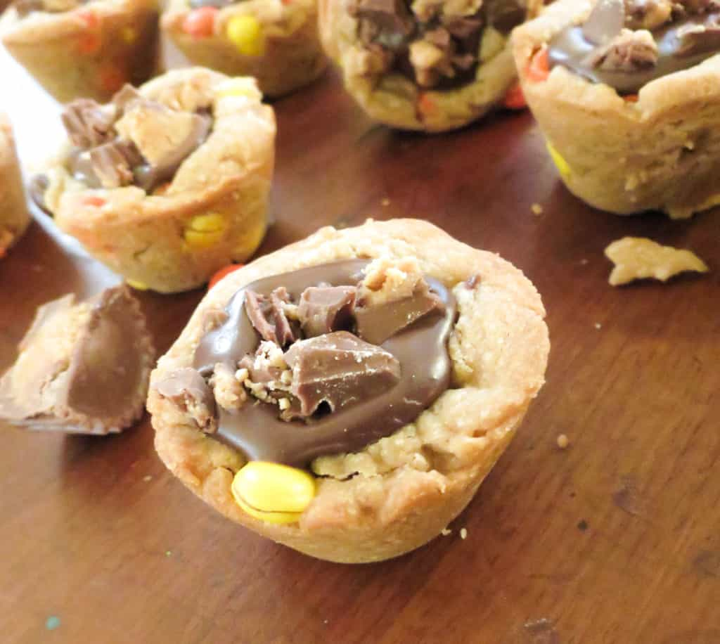 Double Peanut Butter Chocolate Ganache Filled Cookie Cups
