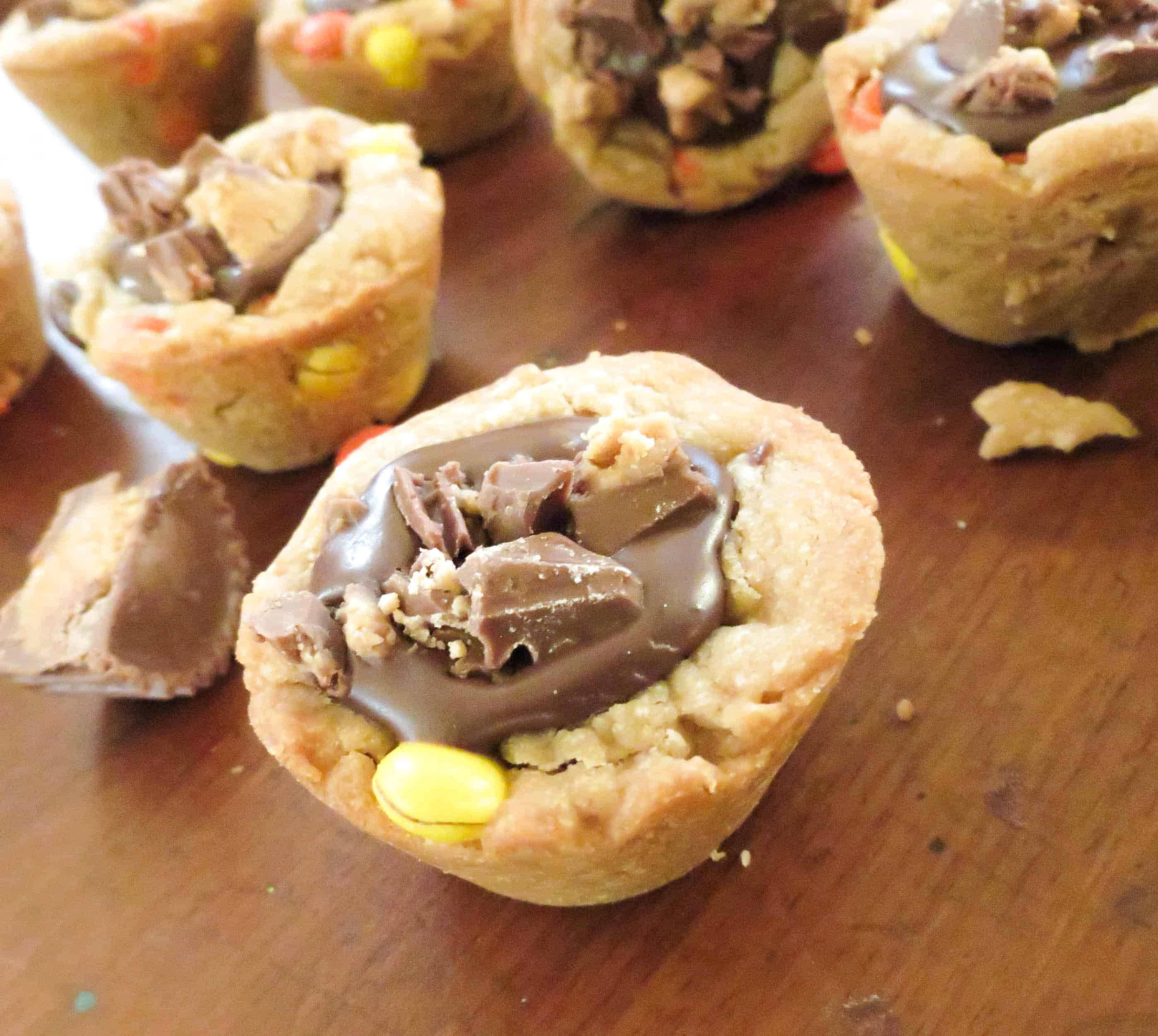 Triple Peanut Butter Chocolate Ganache Filled Cookie Cups - Sprinkle ...