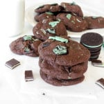 Chewy Chocolate Double Mint Cookies