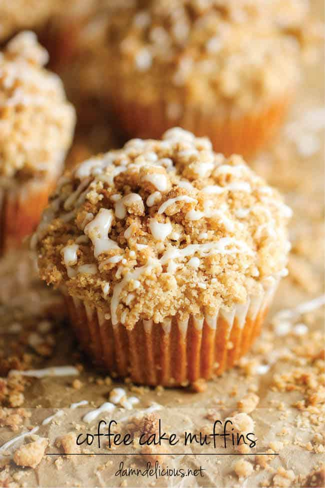 Coffee Cake Muffins - Damn Delicious