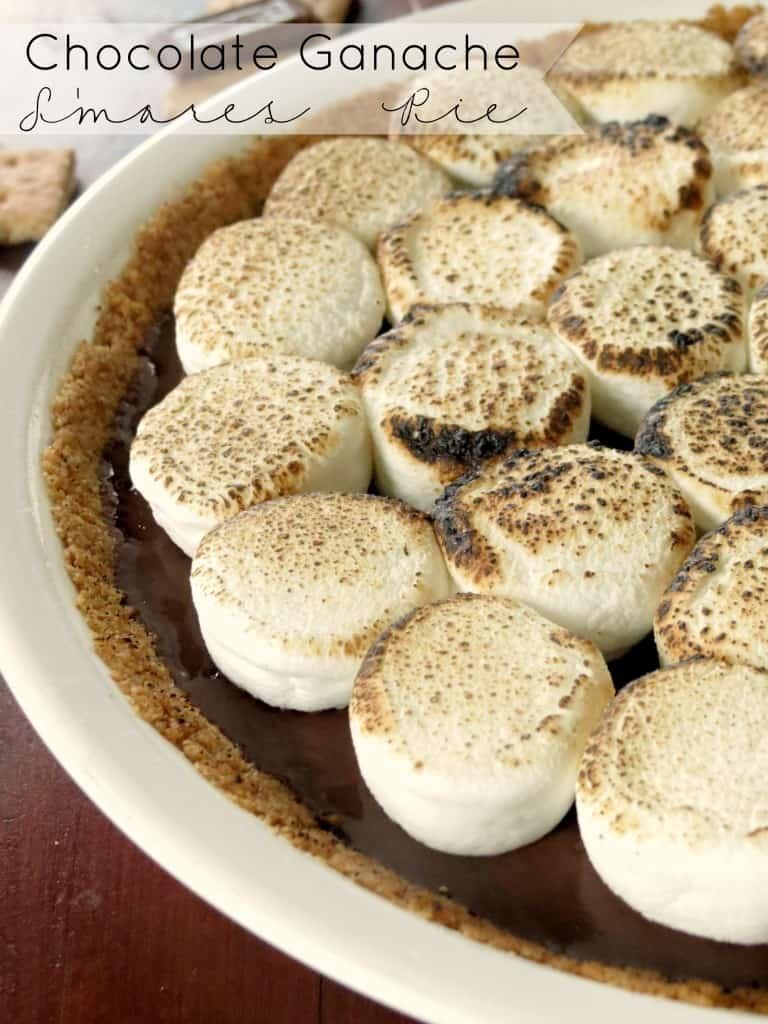 Gooey S'mores Pie - Sprinkle Some Sugar