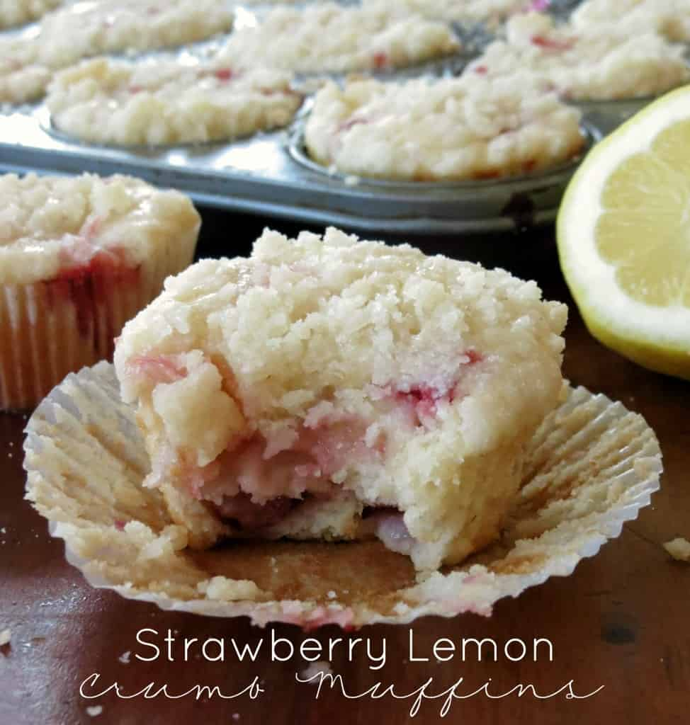 Strawberry Lemon Crumb Muffins - Sprinkle Some Sugar