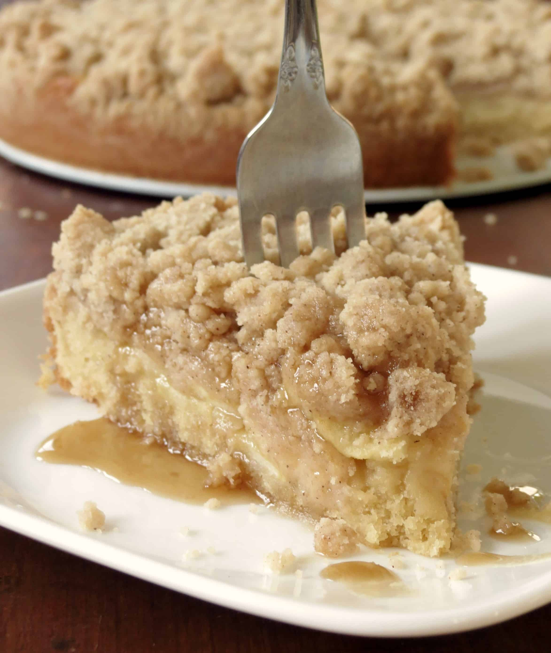 Apple Crumb Coffee Cake - Sprinkle Some Sugar
