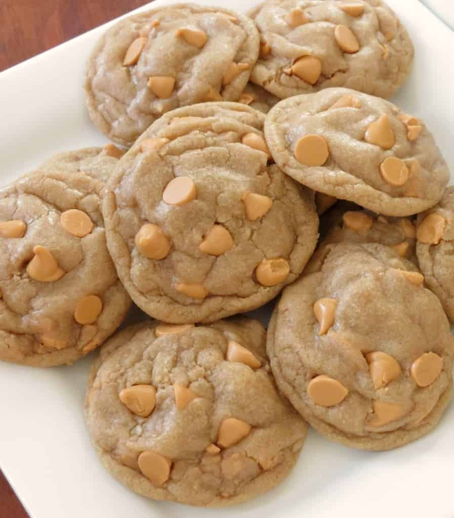 Browned Butter Butterscotch Toffee Brown Sugar Cookies - Sprinkle Some Sugar