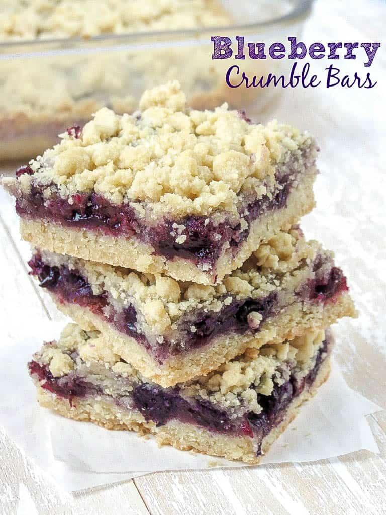 Blueberry Crumble Bars - Sprinkle Some Sugar