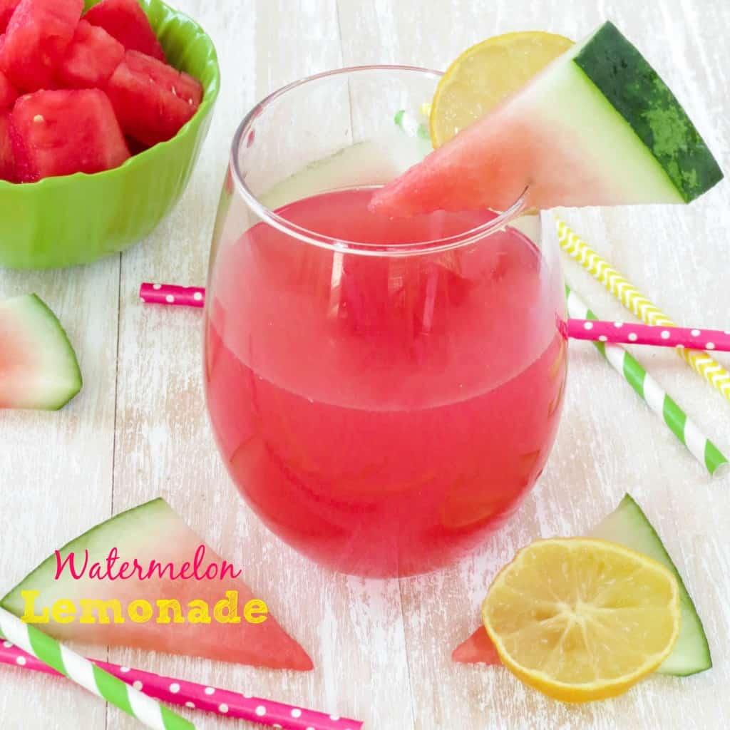 Watermelon Lemonade - Sprinkle Some Sugar