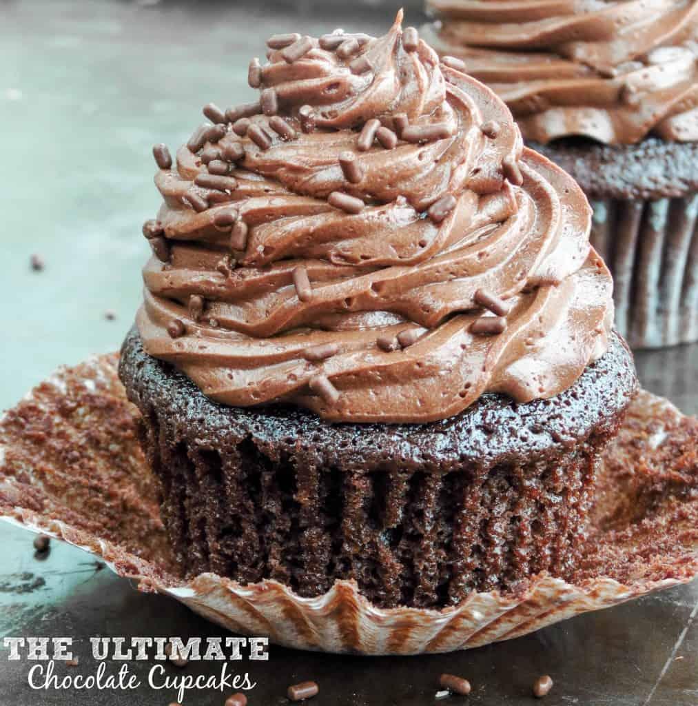 The Ultimate Chocolate Cupcakes - Sprinkle Some Sugar