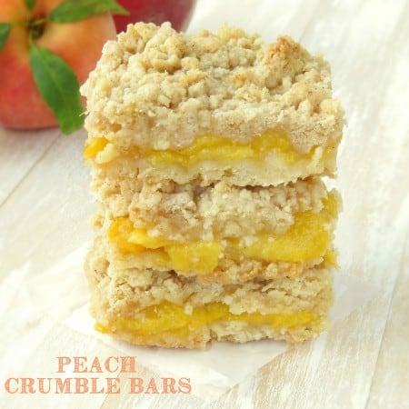Peach Crumble Bars - Sprinkle Some Sugar