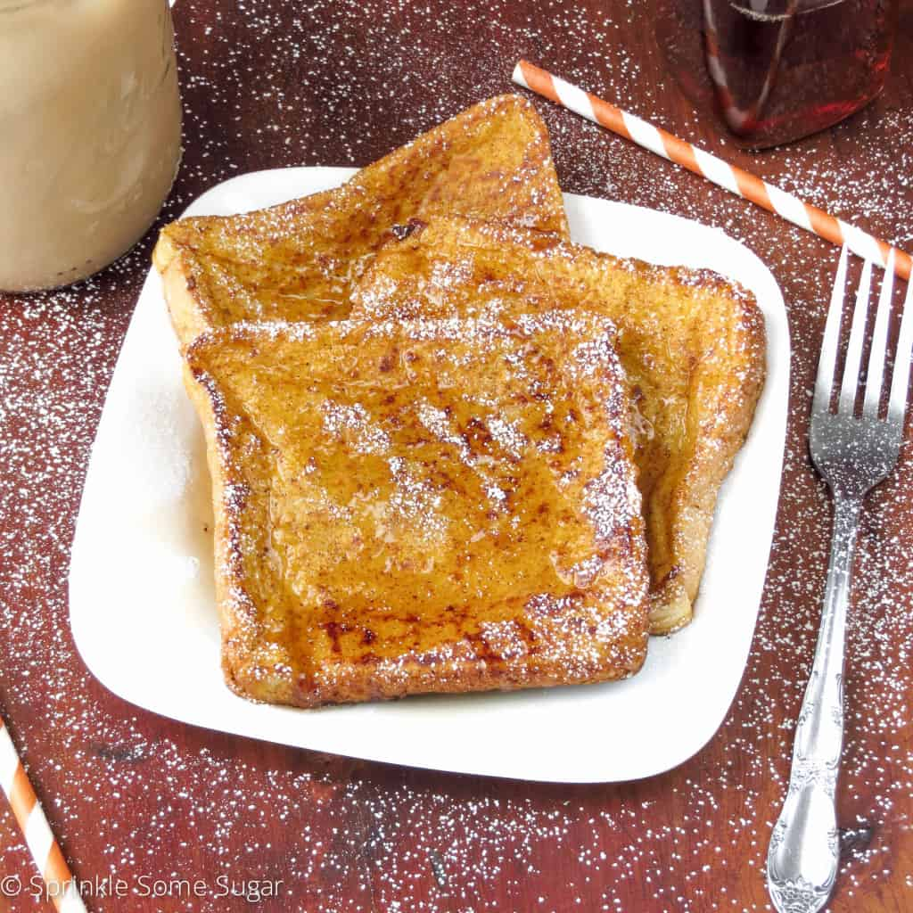 Pumpkin French Toast - Sprinkle Some Sugar