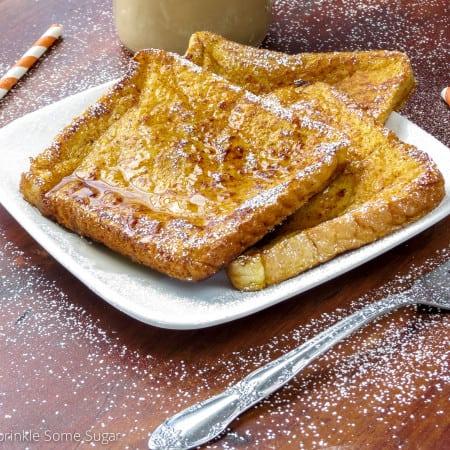 Pumpkin French Toast - Sprinkle Some Sugar
