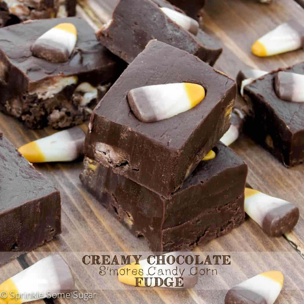 Creamy Chocolate S'mores Candy Corn Fudge