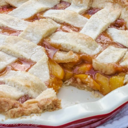 Homemade Peach Pie - Sprinkle Some Sugar