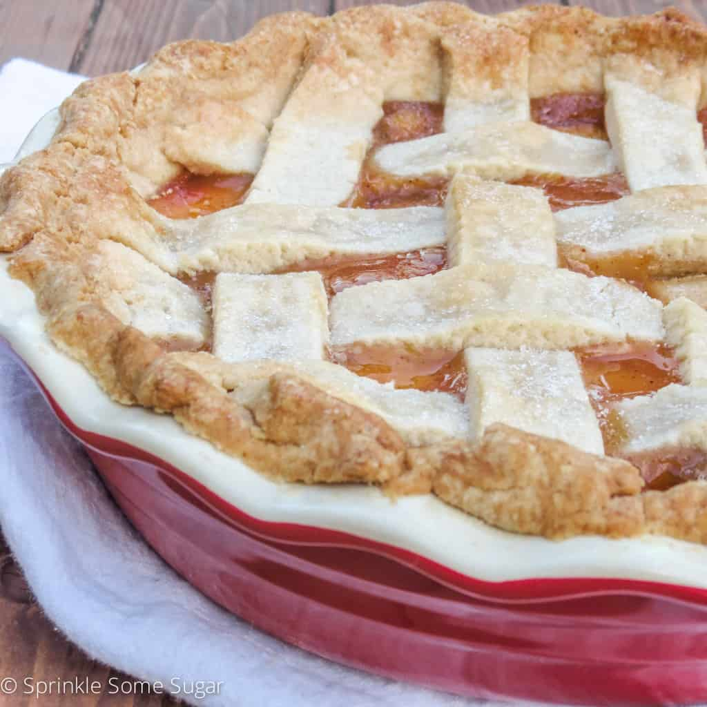 Homemade Peach Pie - Sprinkle Some Sugar