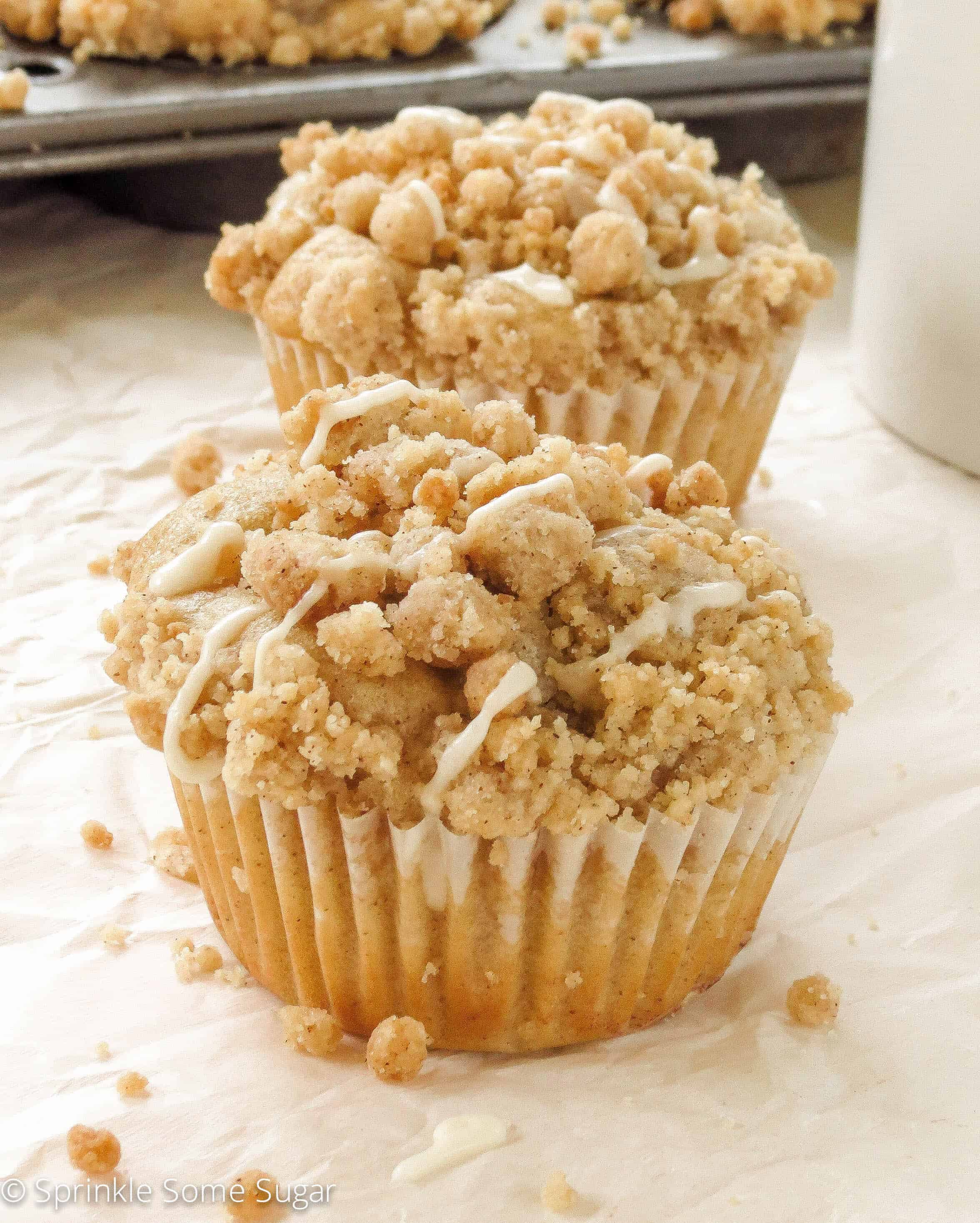 Cinnamon Swirl Coffee Cake Muffins - Sprinkle Some Sugar