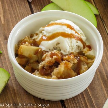 Caramel Apple Crisp - Sprinkle Some Sugar