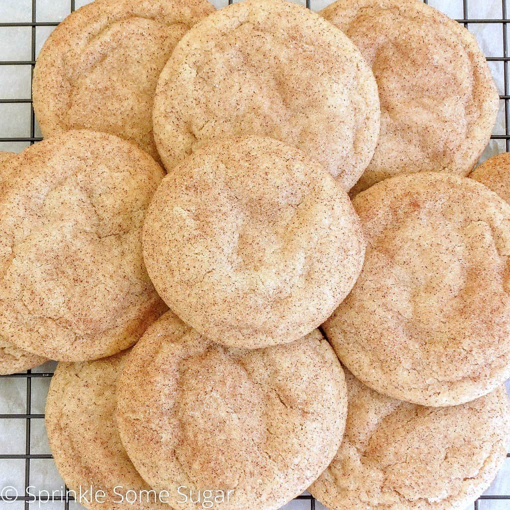 Soft & Chewy Snickerdoodles - Sprinkle Some Sugar