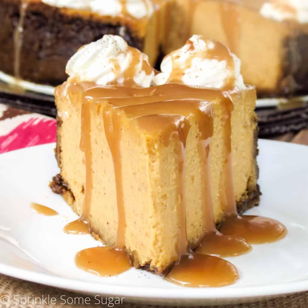 Pumpkin Pie Cheesecake - Sprinkle Some Sugar