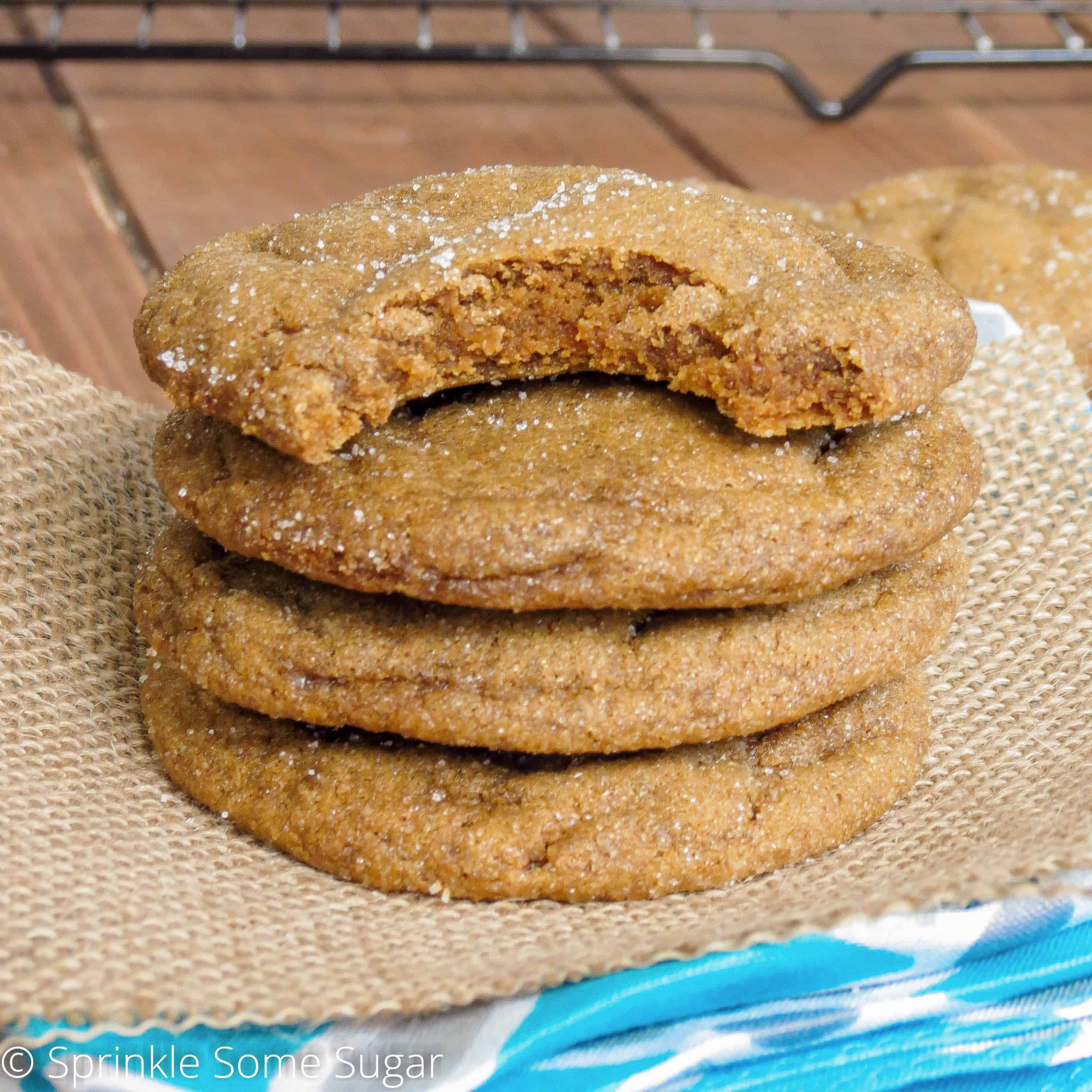 These soft-baked gingersnaps taste even better on the second day! Once ...