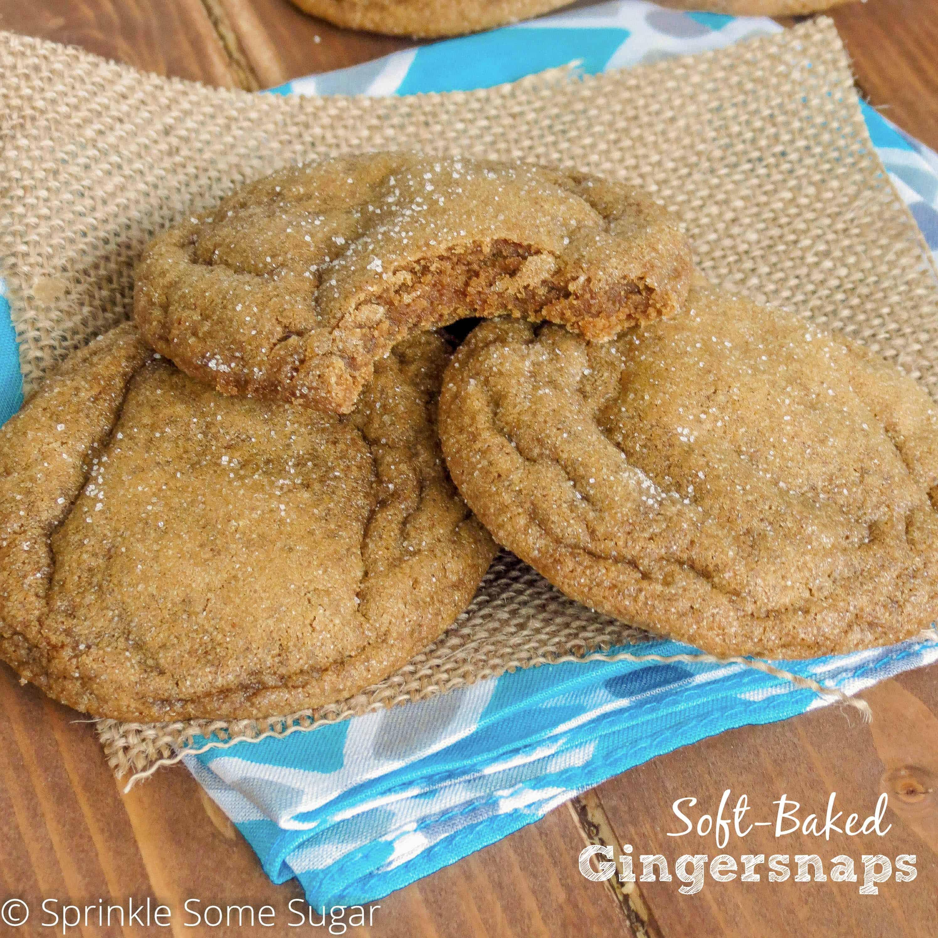 Soft-Baked Gingersnaps - Sprinkle Some Sugar