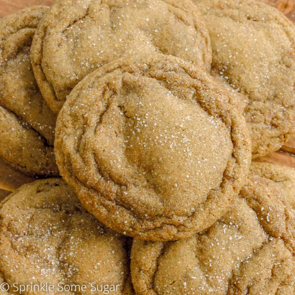 Soft-Baked Gingersnaps - Sprinkle Some Sugar