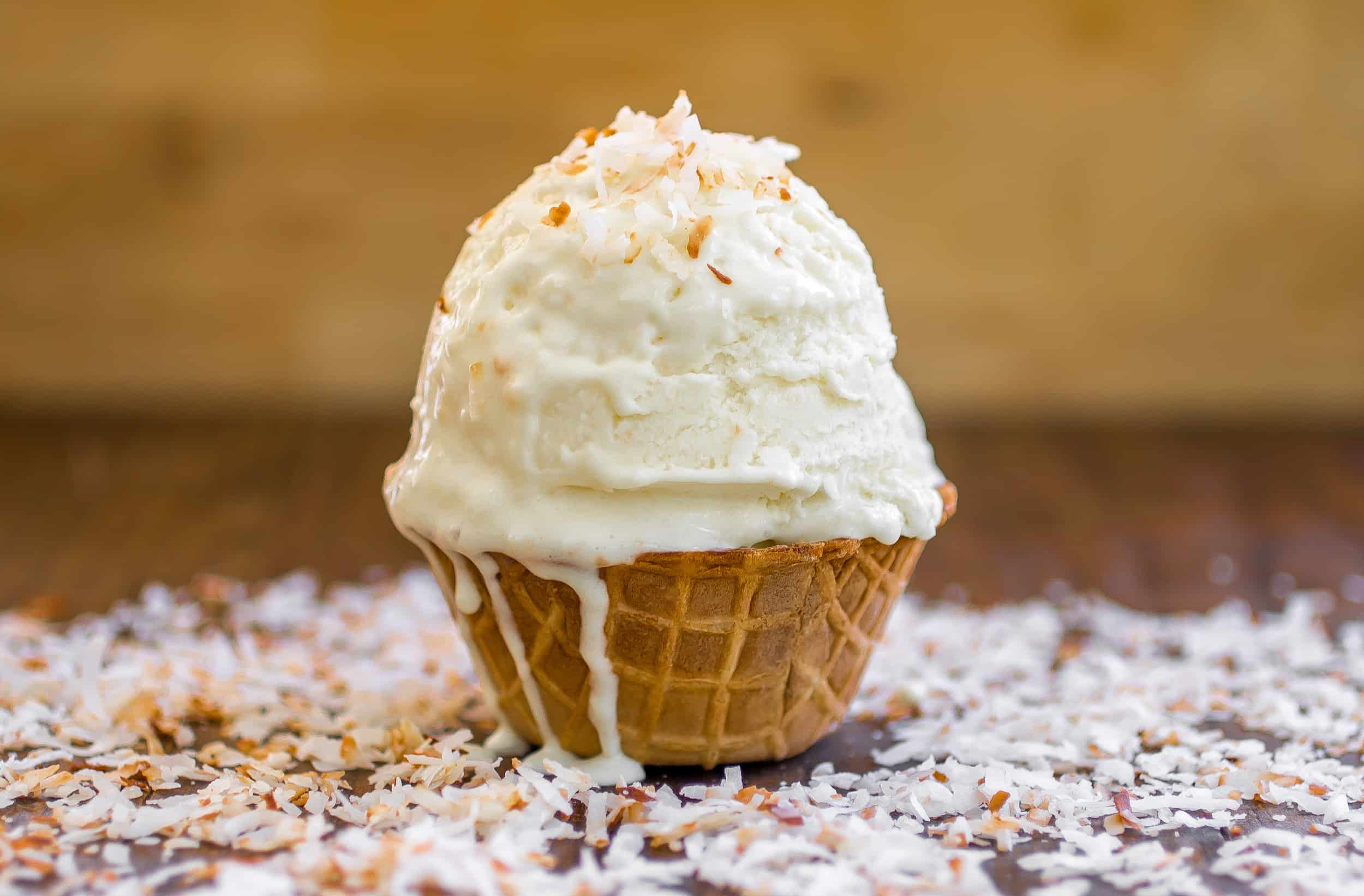Lemon Coconut Ice Cream - Super fresh and creamy lemon coconut ice cream made completely from scratch!