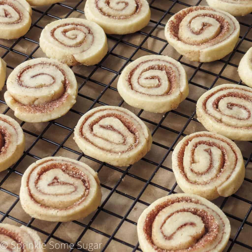 Cinnamon Roll Cookies - Sprinkle Some Sugar