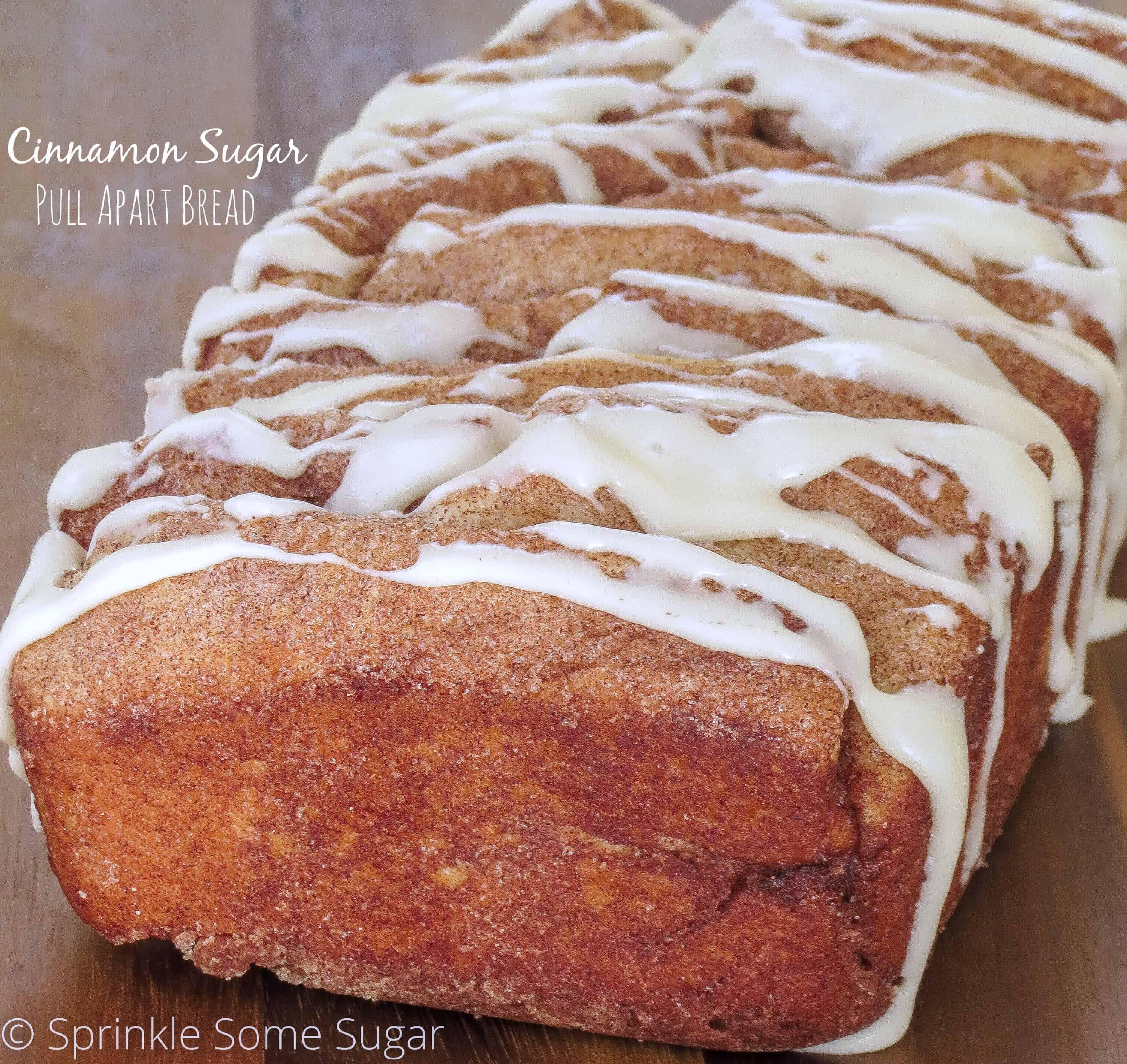 Cinnamon Pull Aparts: Cinnamon Sugar Pull Apart Bread