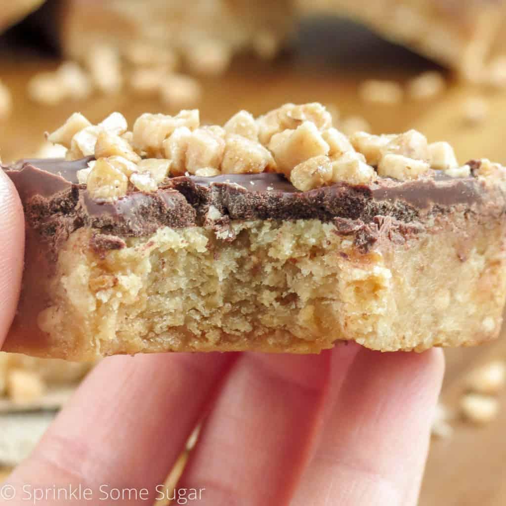 Caramel Toffee Bars - Sprinkle Some Sugar