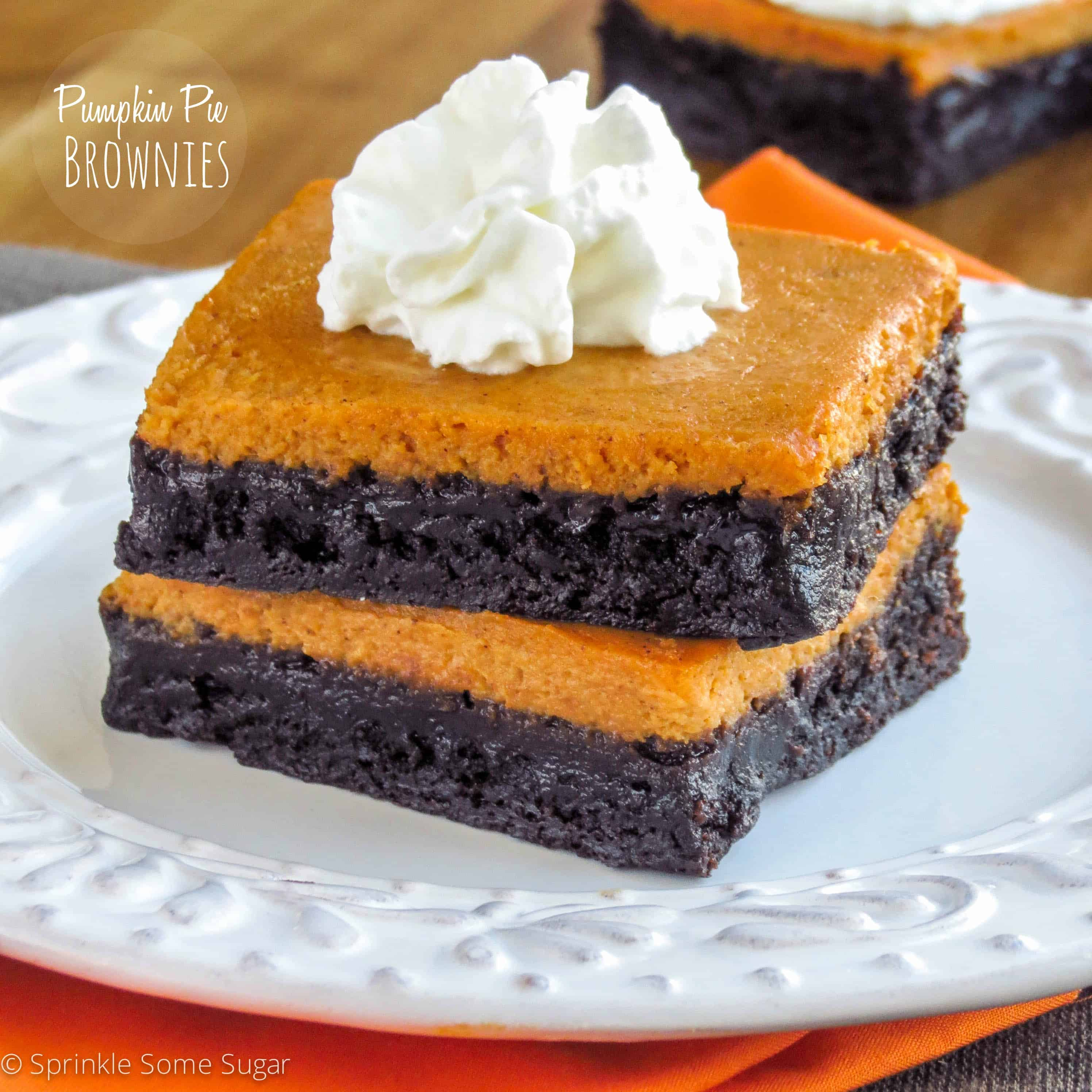 Creamy pumpkin pie meets super fudgy brownies in these incredibly ...